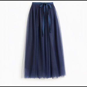 Jcrew Tulle Skirt in Navy